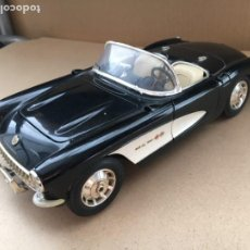 Coches a escala: CHEVROLET CORVETTE 1957 NEGRO BBURAGO ESCALA 1:18 - MADE IN ITALY - ORIGINAL BURAGO. Lote 183576858