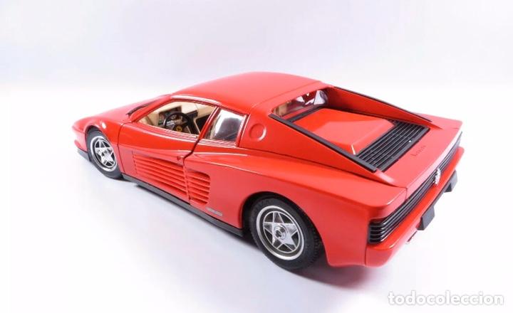 Coches a escala: Precioso coche FERRARI TESTAROSSA Burago 1:18 - Foto 4 - 184464053