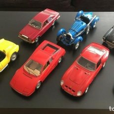 Coches a escala: LOTE X7 COCHES BBURAGO 1:18 ESCALE - MADE IN ITALY ORIGINAL - BURAGO ORIGINALES. Lote 185984756