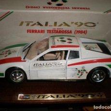 Coches a escala: FERRARI TESTAROSSA (1984),ITALIA 90,BURAGO 1/18,EN SU CAJA ORIGINAL.. Lote 191530297