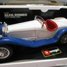 Carros em escala: BURAGO ALFA ROMEO 2300 SPIDER 1932 BLANCO-AZUL COCHE ESCALA 1:18 NUEVO EN CAJA DE MERCEDEZ. Lote 193737617