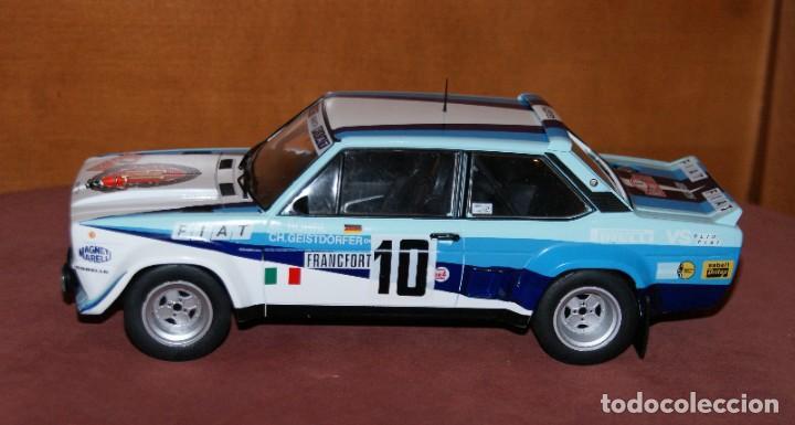 Coches a escala: FIAT 131 ABARTH RALLYE DE MONTECARLO 1980 W. ROHRL - CH. GEISTDORFER ESCALA 1:18 DE ALTAYA EN su CAJ - Foto 2 - 194511245