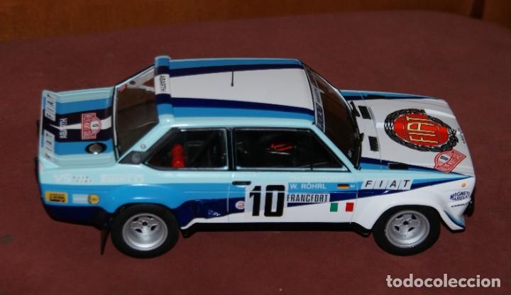 Coches a escala: FIAT 131 ABARTH RALLYE DE MONTECARLO 1980 W. ROHRL - CH. GEISTDORFER ESCALA 1:18 DE ALTAYA EN su CAJ - Foto 7 - 194511245