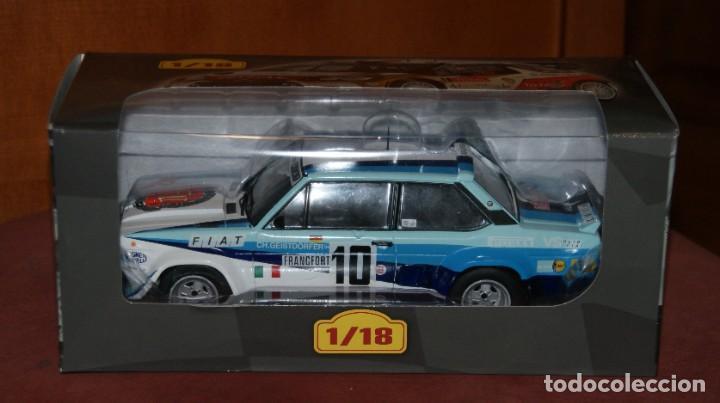 Coches a escala: FIAT 131 ABARTH RALLYE DE MONTECARLO 1980 W. ROHRL - CH. GEISTDORFER ESCALA 1:18 DE ALTAYA EN su CAJ - Foto 8 - 194511245