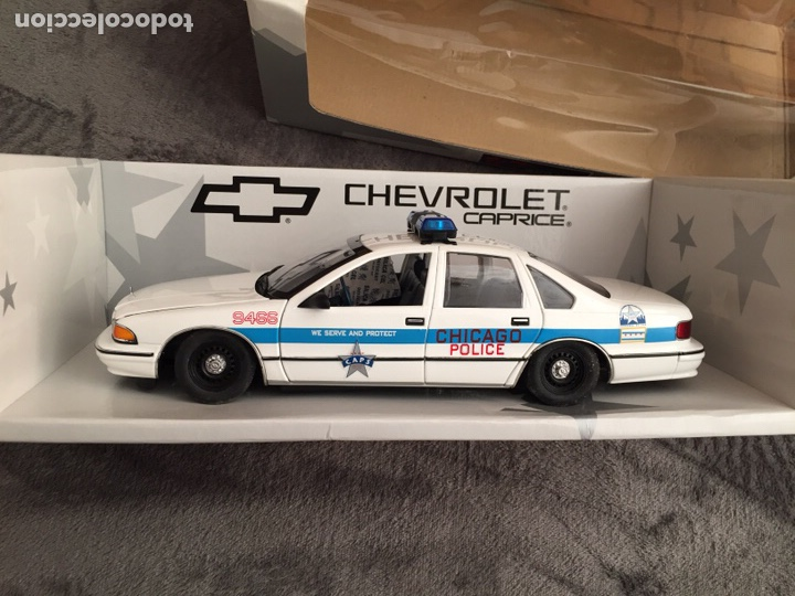 CHEVROLET CAPRICE CHICAGO POLICE 1:18 UT MODELS MAQUETA COCHE POLICÍA (Juguetes - Coches a Escala 1:18)