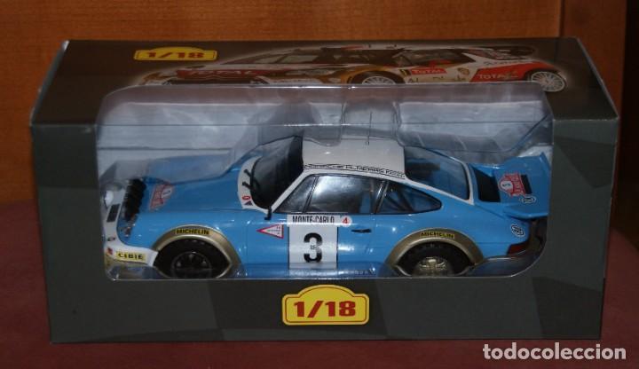 Coches a escala: PORSCHE 911 CARRERA RALLYE DE MONTECARLO 1978 J.P. NICOLAS ESCALA 1:18 DE ALTAYA EN su CAJA - Foto 8 - 194596013