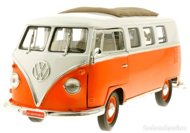 Coches a escala: Volkswagen T1 Microbus techo plegable 1962 escala 1/18 de Lucky Die Cast - Foto 3 - 194687078