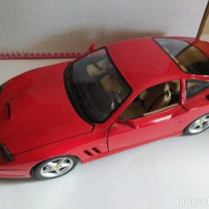 Coches a escala: BURAGO FERRARI 550 MARANELLO 1996 1/18 MADE IN ITALY. Lote 194988003