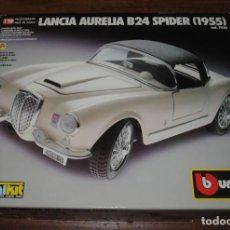 Coches a escala: LANCIA AURELIA B24 SPIDER (1955) METALKIT A ESCALA 1/18 DE LA MARCA BURAGO. NUEVO. Lote 195090967