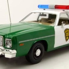 Coches a escala: PLYMOUTH FURY CHICKASAW COUNTY SHERIFF ESCALA 1/18 DE GREENLIGHT. Lote 195281891