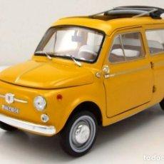 Voitures à l'échelle: FIAT 500 GIARDINIERA 1968 ESCALA 1/18 DE NOREV. Lote 201740812