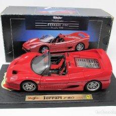 Coches a escala: FERRARI F50 1995 DE MAISTO CON SU CAJA ORIGINAL.. Lote 202679040