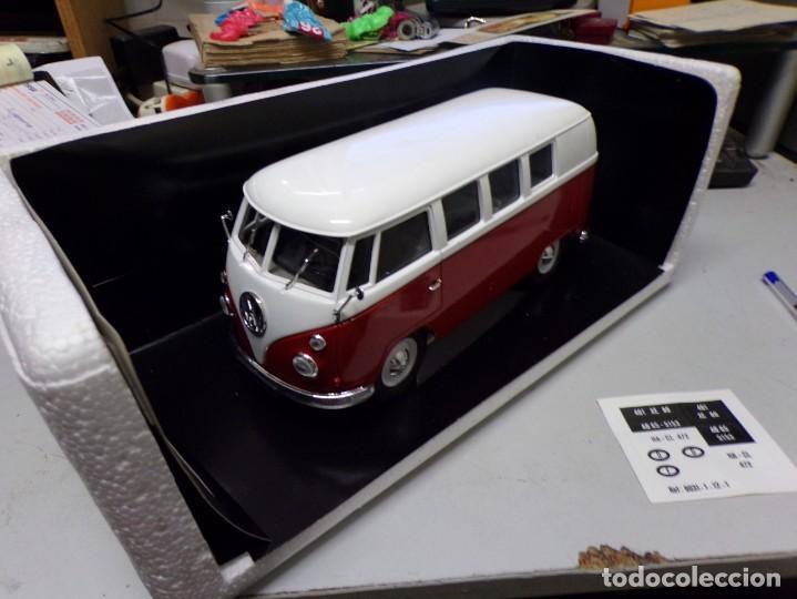 Coches a escala: preciosa furgo combi vitre 1966 v.w de solido francia en su caja , furgo perfecta - Foto 5 - 207459232