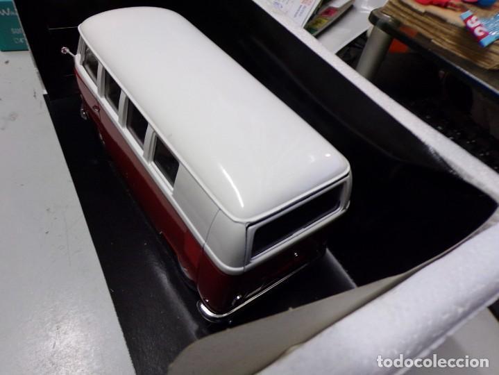Coches a escala: preciosa furgo combi vitre 1966 v.w de solido francia en su caja , furgo perfecta - Foto 8 - 207459232