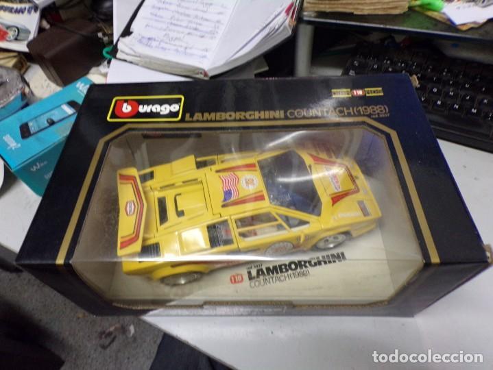 Coches a escala: coche burago escala 1/18 lamborghini countach 1988 con su caja - Foto 2 - 256073945