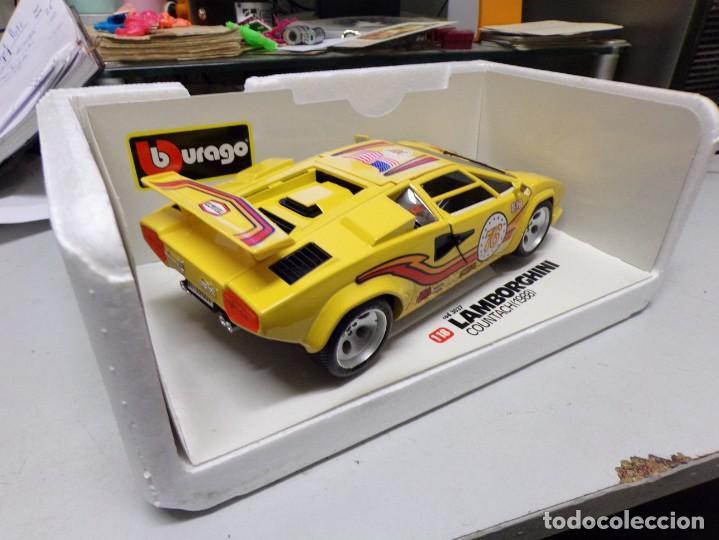 Coches a escala: coche burago escala 1/18 lamborghini countach 1988 con su caja - Foto 8 - 256073945