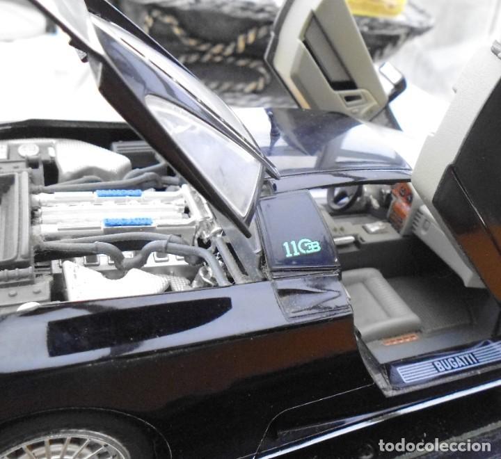 Coches a escala: Vitrina / Urna expositora de cristal y madera con choche Bugatti CEB. Escala 1/18. Burago año 1991 - Foto 5 - 209777240