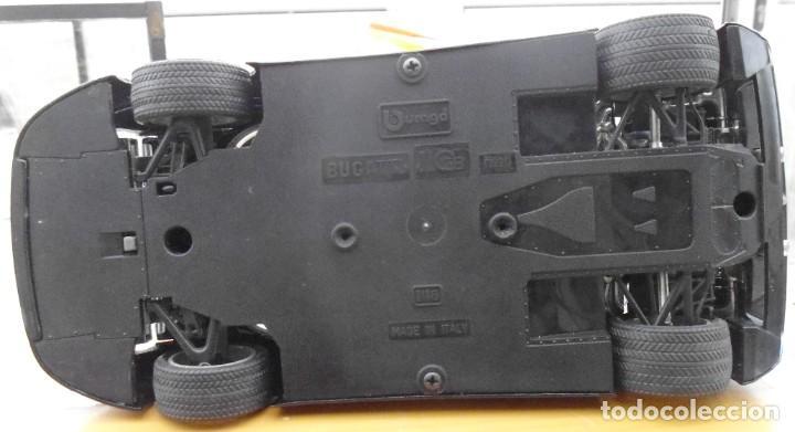 Coches a escala: Vitrina / Urna expositora de cristal y madera con choche Bugatti CEB. Escala 1/18. Burago año 1991 - Foto 15 - 209777240