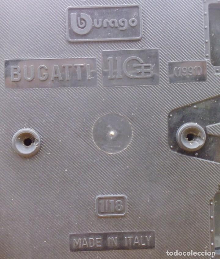 Coches a escala: Vitrina / Urna expositora de cristal y madera con choche Bugatti CEB. Escala 1/18. Burago año 1991 - Foto 16 - 209777240
