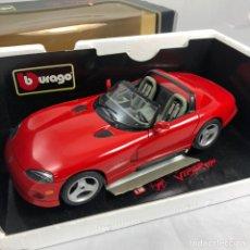 Coches a escala: COCHE BURAGO VIPER RT 10 1992. CON CAJA ORIGINAL. Lote 210703366