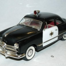 Carros em escala: MIRA COCHE FORD 1949 POLICE 1:18 SCALE 1/18 DIECAST CAR MADE IN SPAIN DIE CAST. Lote 217151288