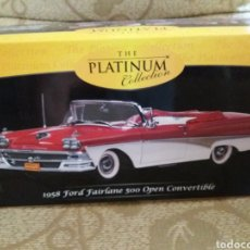 Coches a escala: FORD FAIRLANE 500 OPEN CONVERTIBLE 1958 ESCALA 1/18 THE PLATINUM COLLECTION. Lote 218298016
