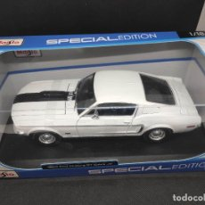 Coches a escala: 1968 FORD MUSTANG GT COBRA JET MAISTO 1/18. Lote 222343955