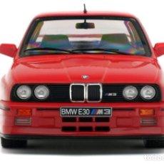 Coches a escala: COCHE BMW E30 M3 ROJO - SOLIDO - (ESCALA 1:18) - NUEVO EN CAJA. Lote 222690560