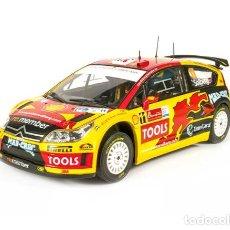 Coches a escala: COCHE DE RALLY CITROEN C4 WRC - 2010 / P. SOLBERG (ESCALA 1:18) N77, COMPETICIÓN. Lote 222740150