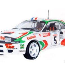 Coches a escala: COCHE DE RALLY TOYOTA CELICA TURBO 4WD (ST185) - 1994 / D. AURIOL - (ESCALA 1:18) N9. Lote 226631325
