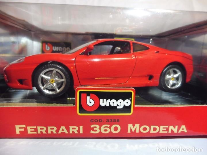 BURAGO 1/18 FERRARI 360 MODENA (1999) COD. 3358 EN CAJA (Juguetes - Coches a Escala 1:18)