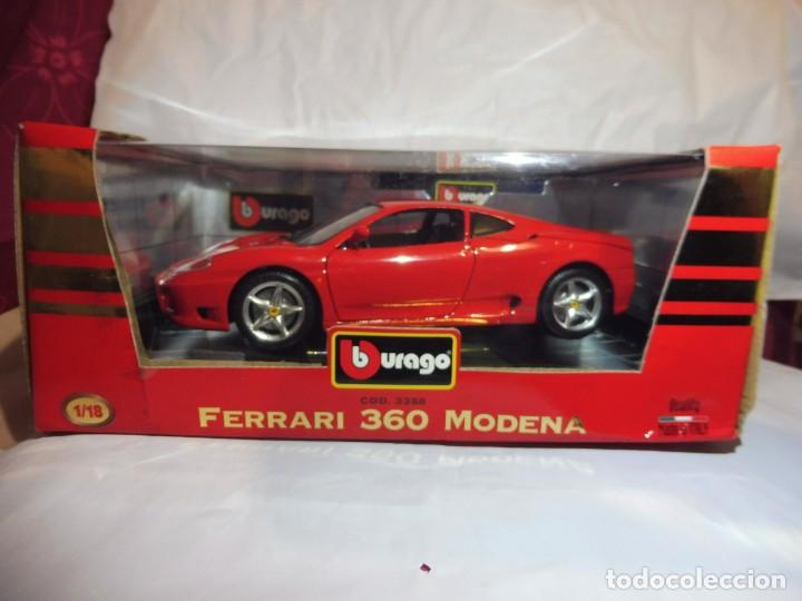 Coches a escala: Burago 1/18 Ferrari 360 Modena (1999) cod. 3358 en caja - Foto 2 - 241694295