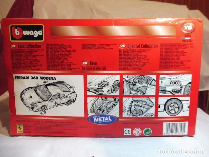 Coches a escala: Burago 1/18 Ferrari 360 Modena (1999) cod. 3358 en caja - Foto 8 - 241694295