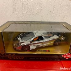 Coches a escala: PROTOTYPE MC LAREN LM GUILOY ESCALA 1/18 CROMADO. Lote 245613840