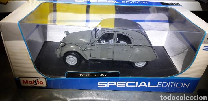 Coches a escala: CITROEN 2CV 1952 ESCALA 1/18 MAISTO SPECIAL EDITION - Foto 3 - 221416621