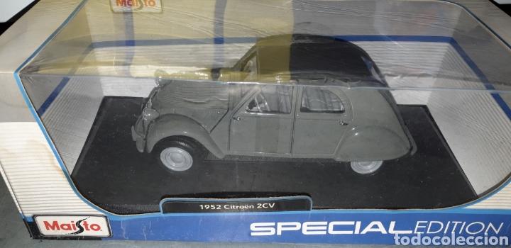 Coches a escala: CITROEN 2CV 1952 ESCALA 1/18 MAISTO SPECIAL EDITION - Foto 4 - 221416621