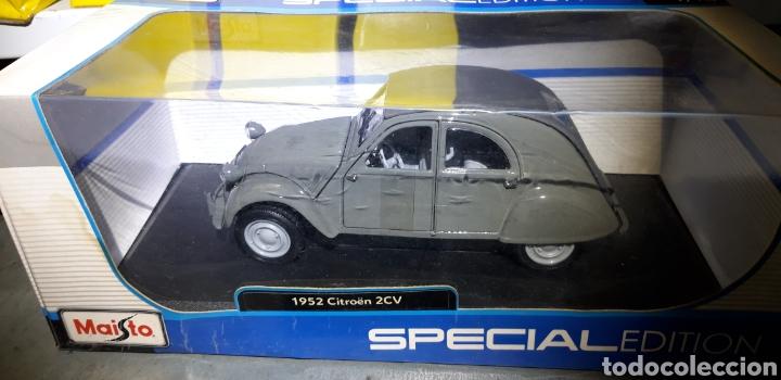 Coches a escala: CITROEN 2CV 1952 ESCALA 1/18 MAISTO SPECIAL EDITION - Foto 6 - 221416621