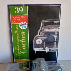 Carros em escala: PEUGEOT 203 CABRIOLET 1964 SALVAT ESCALA 1/18. Lote 268894479