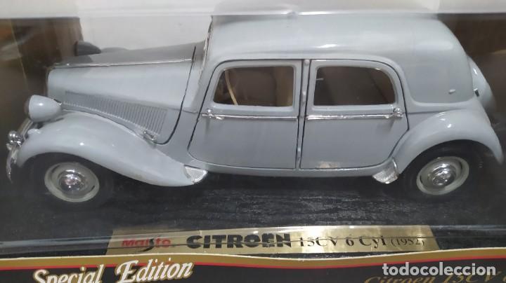 Coches a escala: Citroen 15cv 6 Cilindros(1952). Maisto special edition1/18 nuevo en caja. - Foto 2 - 287698498
