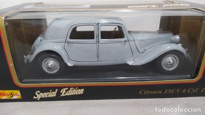 Coches a escala: Citroen 15cv 6 Cilindros(1952). Maisto special edition1/18 nuevo en caja. - Foto 4 - 287698498