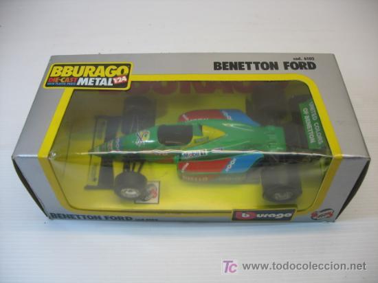 Coches a escala: BENETTON FORD, REF. 6102 DE BBURAGO, ESCALA 1/24 - Foto 3 - 23013717