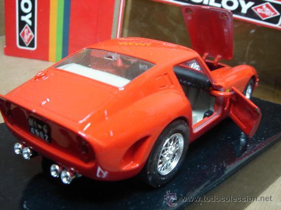 Coches a escala: COCHE METAL GUILOY - FERRARI 250 GTO 1962 REF:64502 ESC:1/24 - MADE IN SPAIN - Foto 3 - 26536038