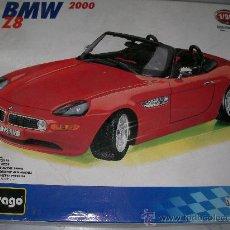 Coches a escala: MAQUETA BURAGO MADE IN ITALY BMW Z8 2000 EN SU CAJA. Lote 22483735