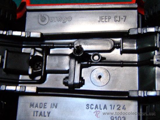 Coches a escala: JEEP CJ.7 - MARCA : BURAGO (ITALIA) - ESCALA 1/24. 9013 - METAL Y PLASTICO - 1980-1985 APROX. - Foto 5 - 31089746