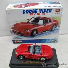 Coches a escala: BURAGO - COCHE DODGE VIPER RT/10 1992 - ESCALA 1:24. Lote 34932836