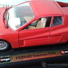 Coches a escala: FERRARI TESTAROSSA 1984 SCALA 1/24 DE BURAGO. Lote 37361330