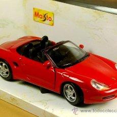 Coches a escala: PORSCHE BOXSTER 1996 SPIDER - MAISTO - ESC. 1/24 METAL - NUEVO EN SU CAJA. Lote 37932553