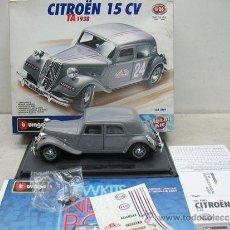 Coches a escala: BURAGO CITROEN 15CV -TA 1938 -METAL -ESCALA 1/24. Lote 38840801