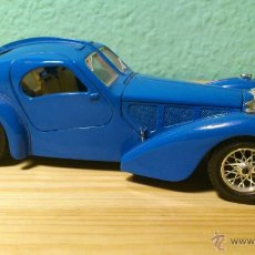 Coches a escala: COCHE A ESCALA BURAGO BUGATTI ATLANTIC 1936 AZUL MADE IN ITALY ESCALA 1/24 . Lote 40900251