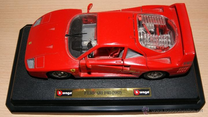 Coches a escala: Lote Coches Mercedes-Benz SSK 1928 / Ferrari F40 1987 / Ferrari 250 LM Monza 1966 - Burago - Foto 12 - 41436932